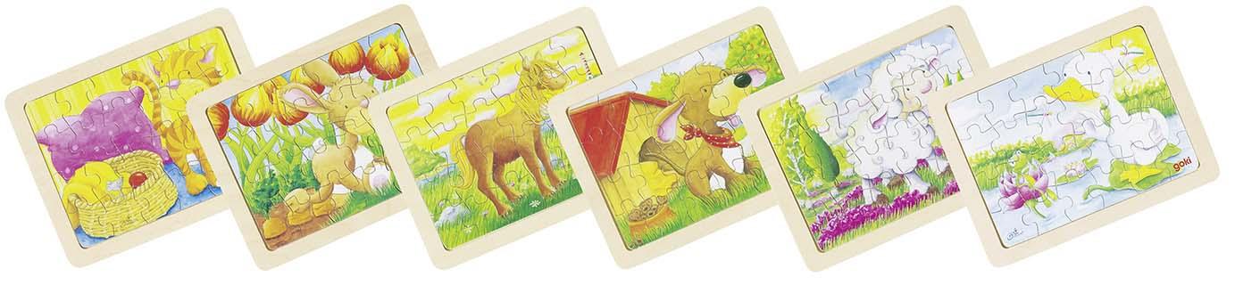 Puzzle puidust loomadega