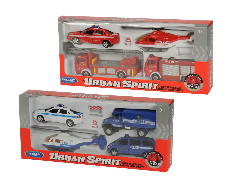 Mängukomplekt autod + helikopter