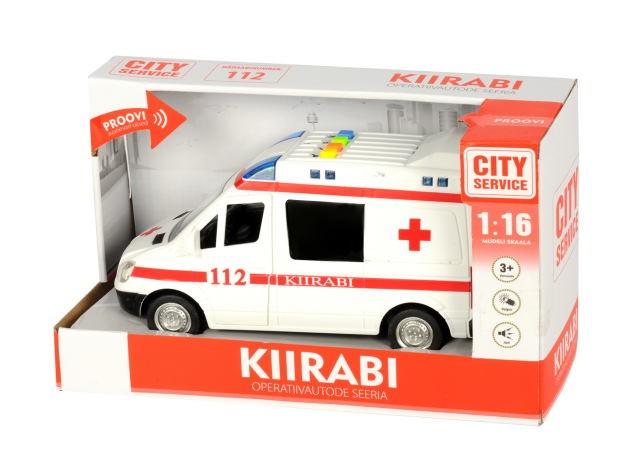 Auto Kiirabi patareidega