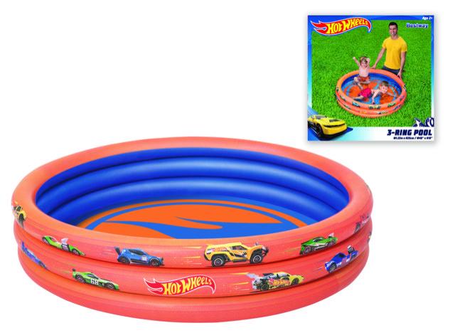 Bassein t/p 3-ringi 122 x 25cm Hot Wheels