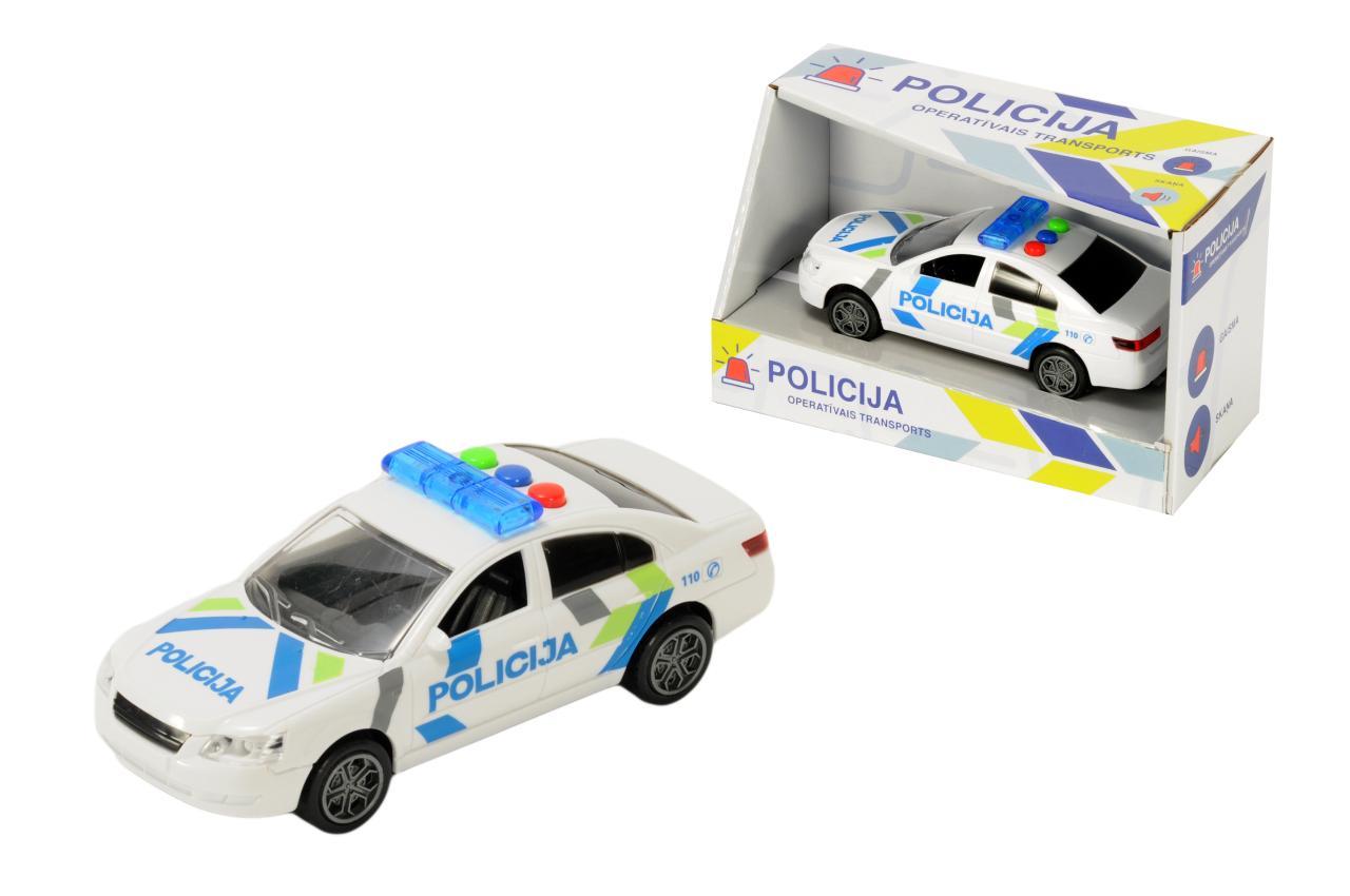 Politseiauto Läti, häälte ja tuledega