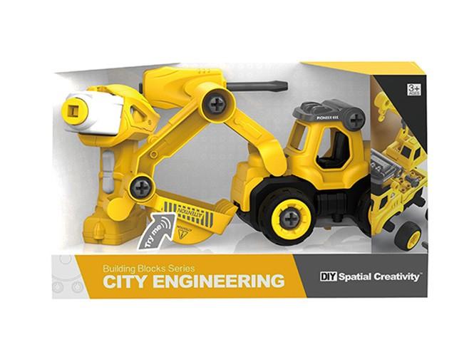 R/C auto-konstruktor, traktor kruvikeerja/puldiga