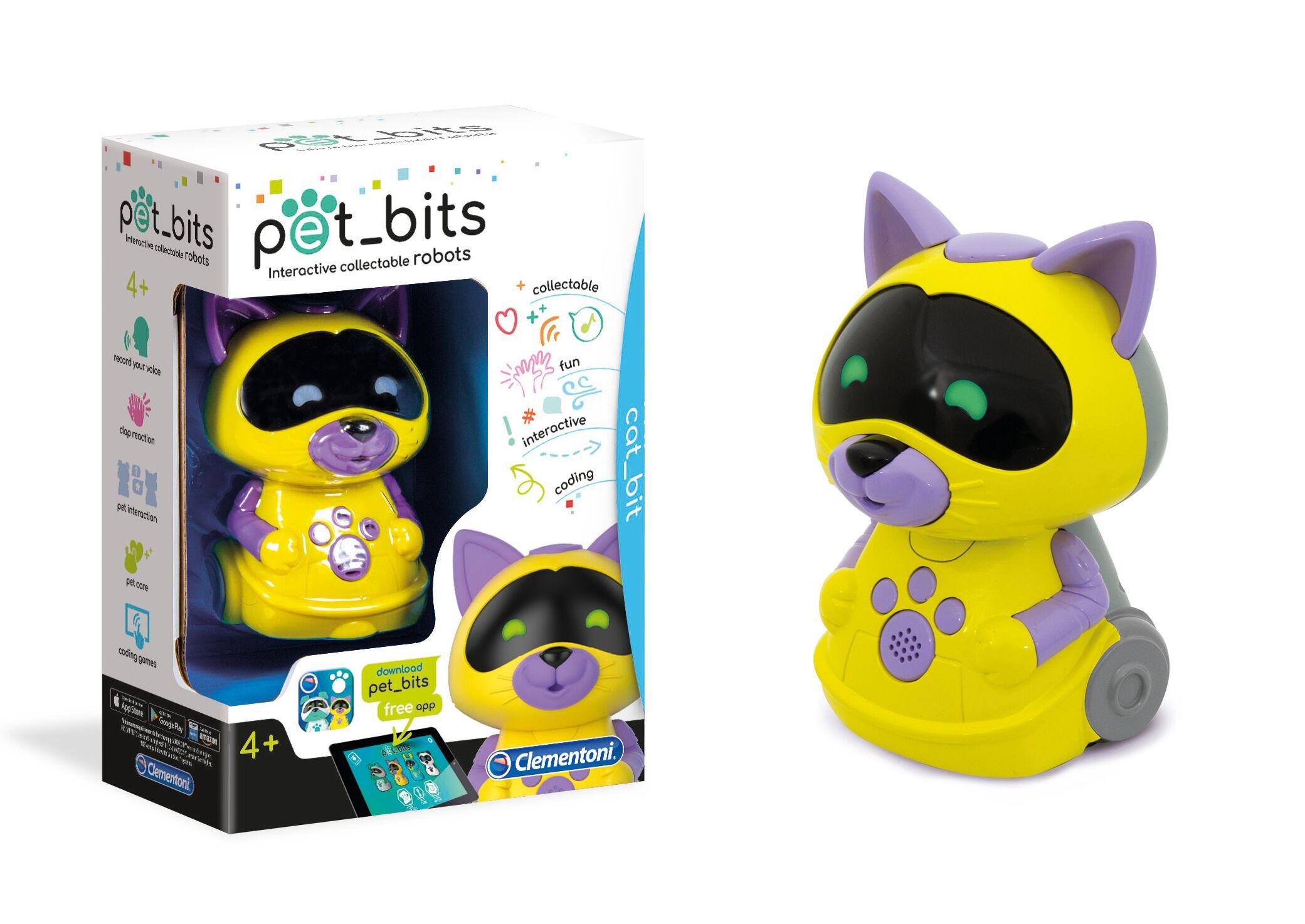 Robotloom Kass, salvestab ja kordab hääle, reageerib käteplaksutusele, suhtelb teiste robotitega spetsiaalse hüüde abil.